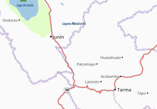 San Pedro de Cajas Map