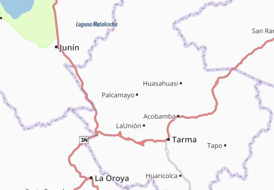 Kaart Plattegrond Palcamayo