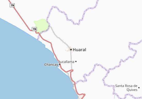 Kaart Plattegrond Huaral
