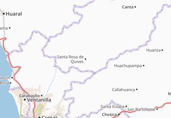 Mappe-Piantine Santa Rosa de Quives