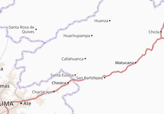 Kaart Plattegrond Callahuanca