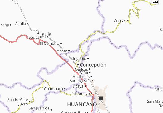 Santa Rosa de Ocopa Map