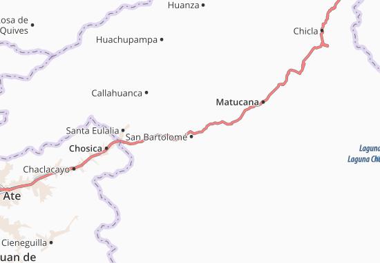 Kaart Plattegrond San Bartolomé