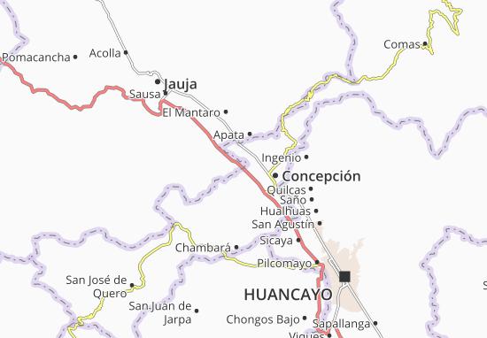 Matahuasi Map