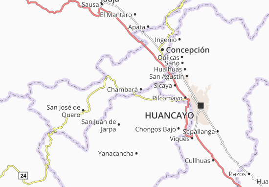 Chambará Map