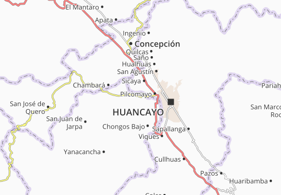 Chupaca Map