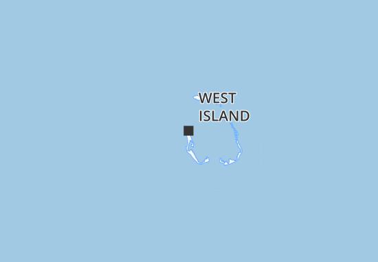 Mapa Plano West Island