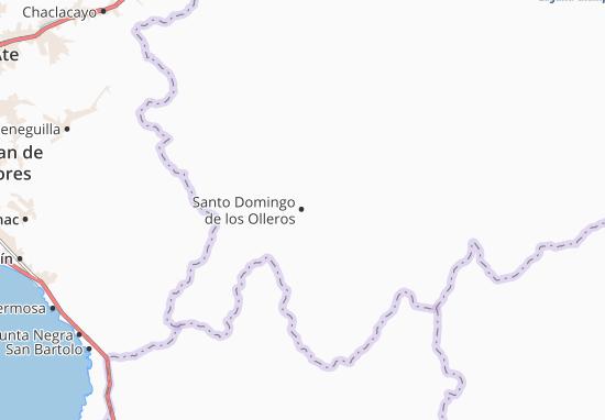 Kaart Plattegrond Santo Domingo de los Olleros