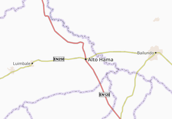 Detailed map of Alto Hama - Alto Hama map - ViaMichelin