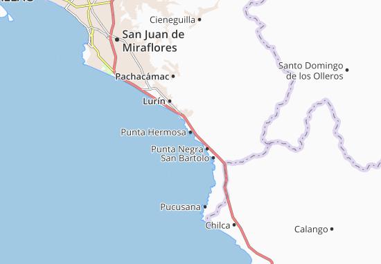 Kaart Plattegrond Punta Hermosa