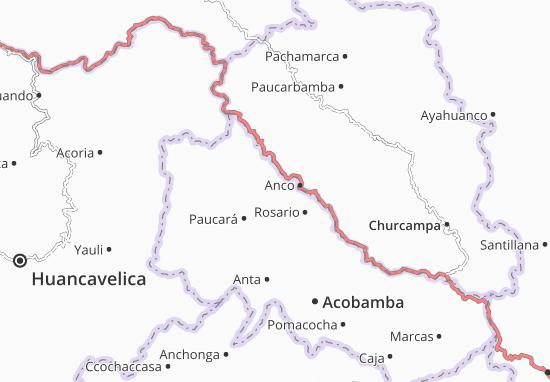 Kaart Plattegrond Andabamba