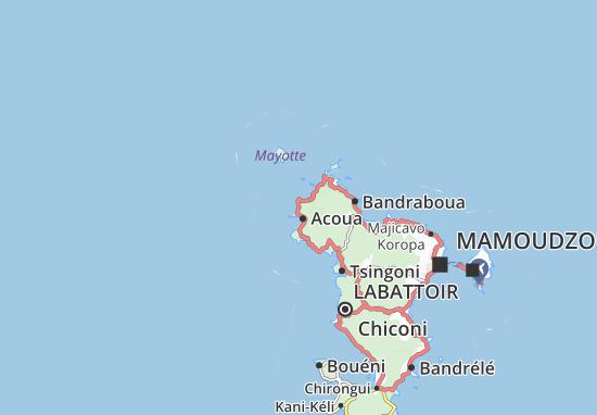 Mtsangadoua Map