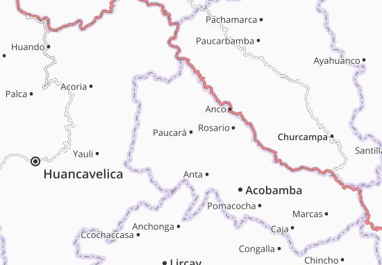 Paucará Map