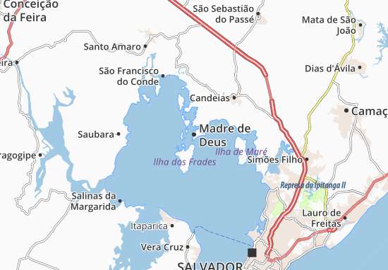 Kaart Plattegrond Madre de Deus