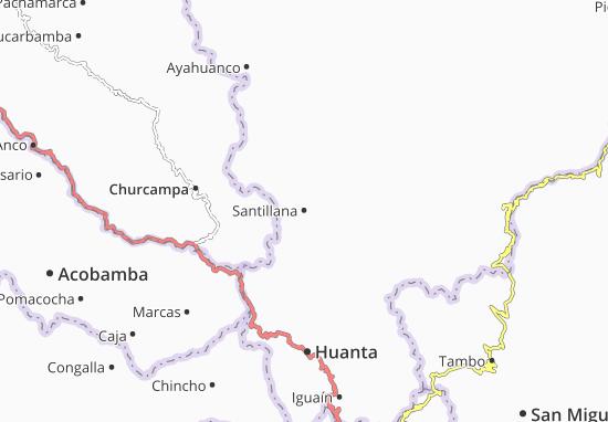Santillana Map