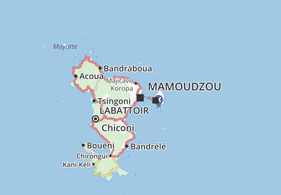 Kaart Plattegrond Mamoudzou