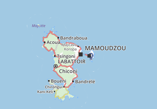 Kaart Plattegrond Kavani