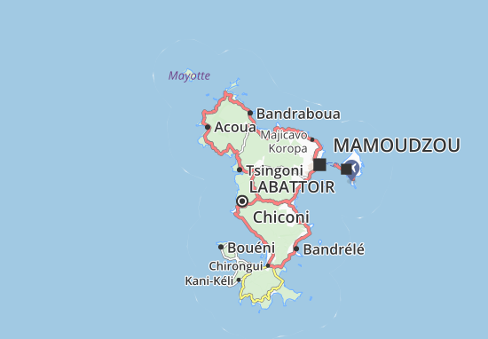 Mapa Plano Hachénoua