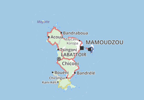 Kaart Plattegrond Vahibé