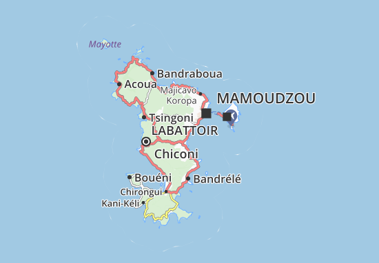 Mapa Plano La Palmeraie