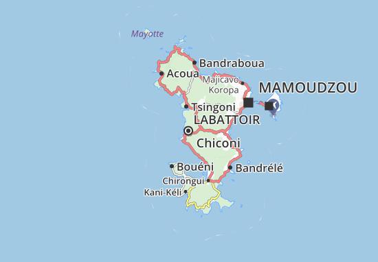 Kaart Plattegrond Chiconi