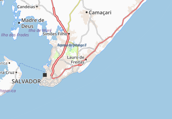 Lauro de Freitas Map