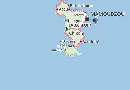 Mzouazia Map
