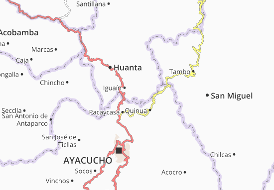 Huamanguilla Map