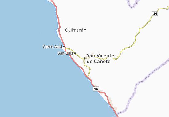 Kaart Plattegrond San Vicente de Cañete