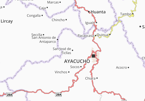 San José de Ticllas Map