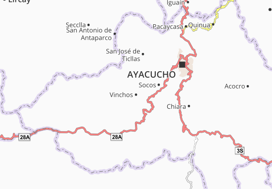 Vinchos Map