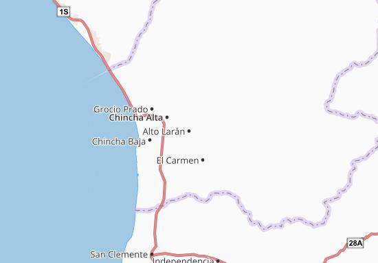 Kaart Plattegrond Alto Larán