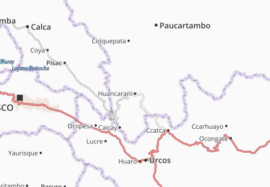 Kaart Plattegrond Huancarani