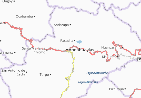 Kaart Plattegrond San Jerónimo