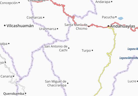 San Antonio de Cachi Map