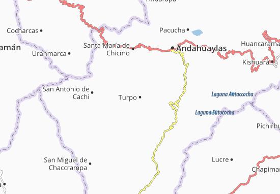 Kaart Plattegrond Turpo