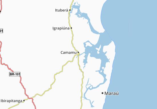 Camamu Map