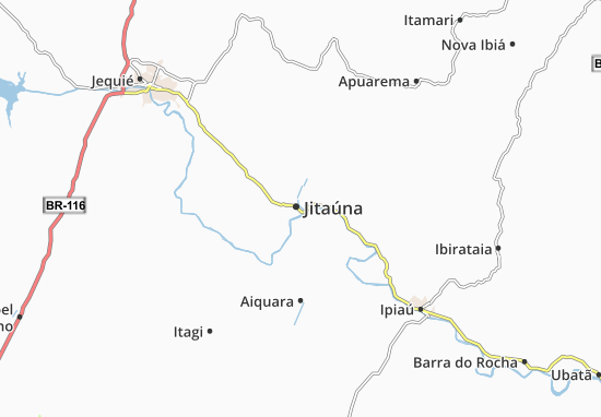 Jitaúna Map