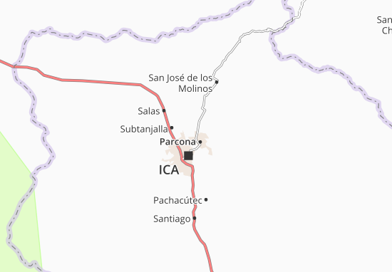 Karte Stadtplan La Tinguiña
