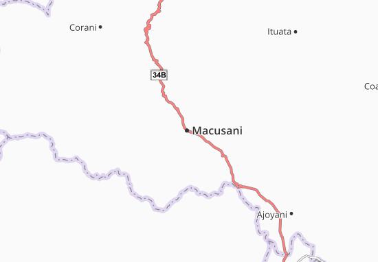 Karte Stadtplan Macusani