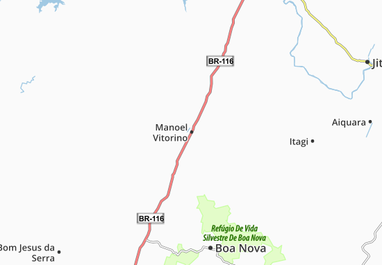Manoel Vitorino Map