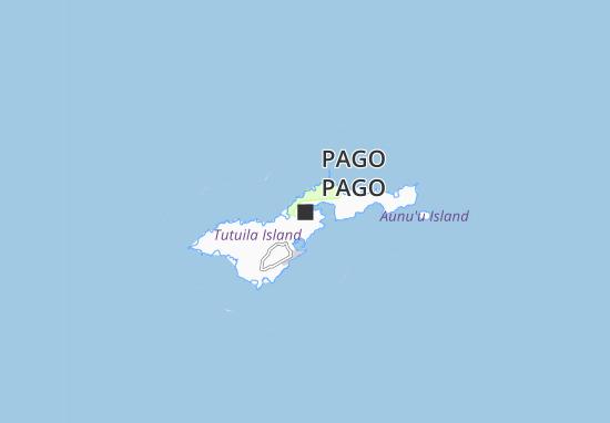 Kaart Plattegrond Pago Pago