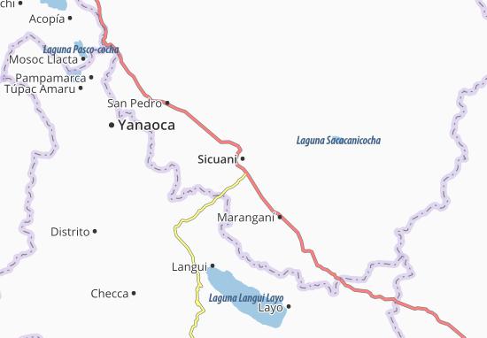 Sicuani Map
