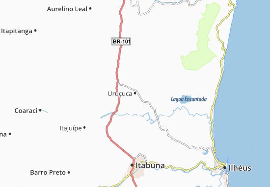 Kaart Plattegrond Uruçuca
