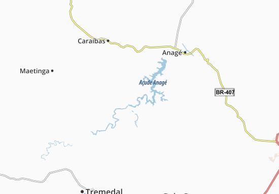 Caraíbas Map
