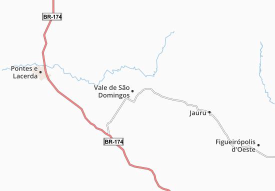 Carte-Plan Vale de São Domingos