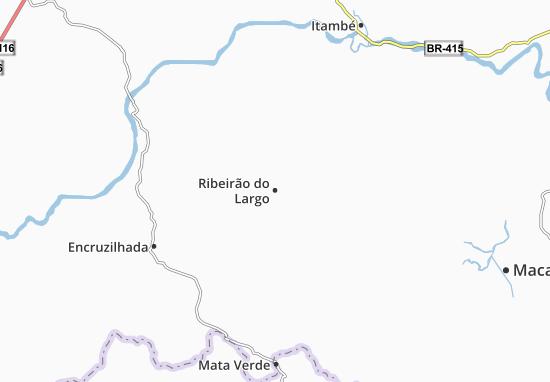 Ribeirão do Largo Map