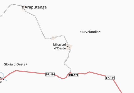 Kaart Plattegrond Mirassol d'Oeste