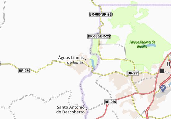 Carte-Plan Águas Lindas de Goiás
