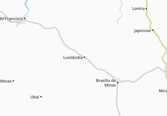 Luislândia Map